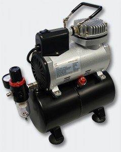 Airbrushkompressor mit Luftvorrattank