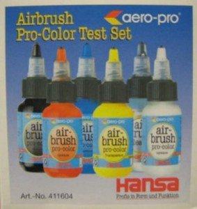 Airbrushfarben von Hansa aero-pro