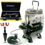 Airbrush Komplettset Evolution Silverline two in one + Saturn a25 + Schlauch + 2-fach Airbrushhalter