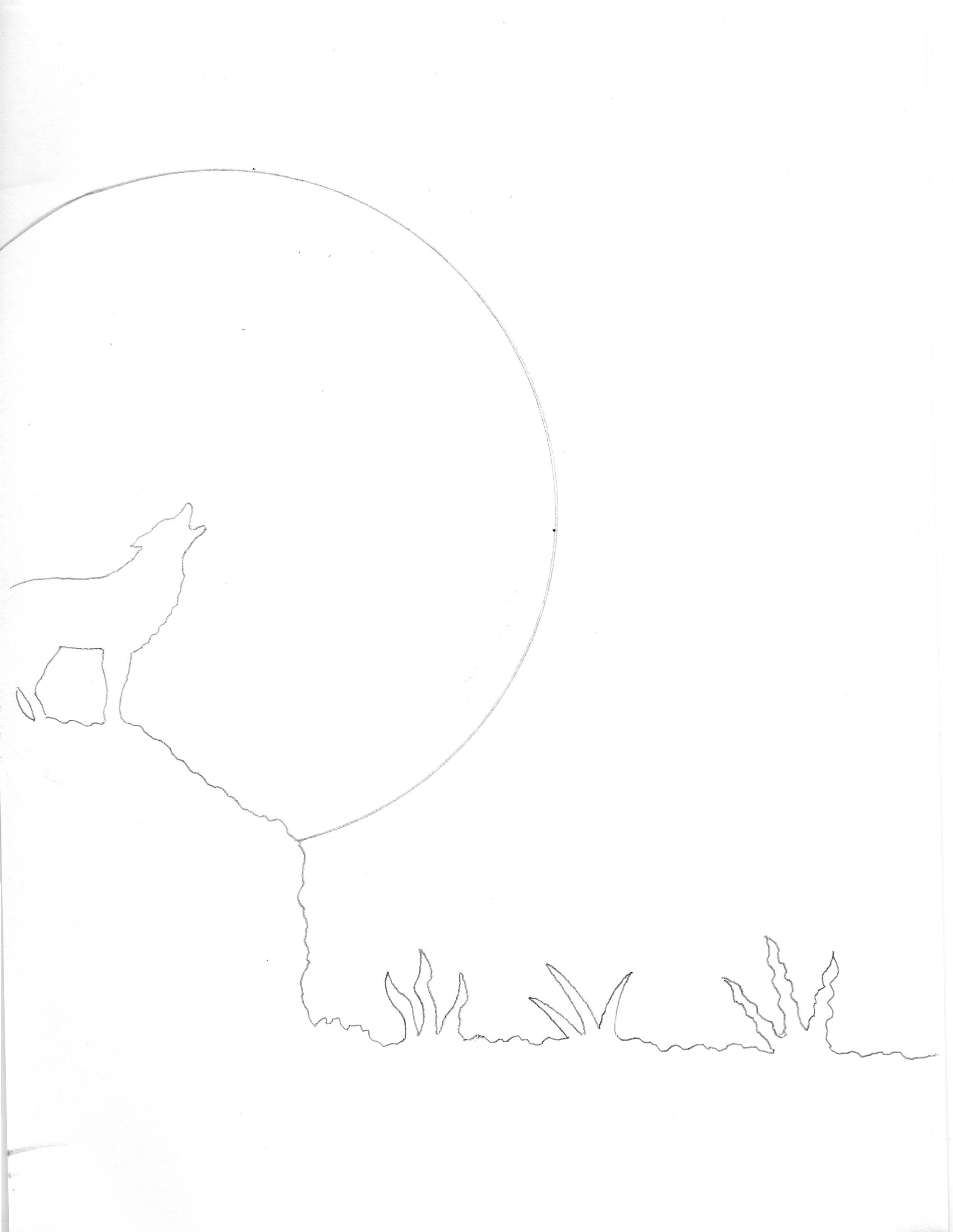 Airbrushbild Adler greift Wolf an Malanleitung