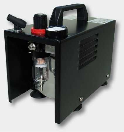 K640_Airbrush Kompressor AF18B kompakt mit Manometer Druckminderer Abschaltautomatik 41yIJ7TVxWL._SY450_